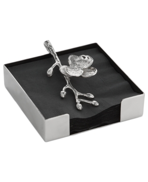 white orchid cocktail napkin holder