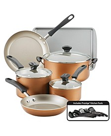 Cookstart Aluminum DiamondMax Nonstick 15-Pc. Cookware Set