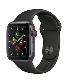 GPS + Cellular, 40mm Space Gray Aluminum Case with Black Sport Band