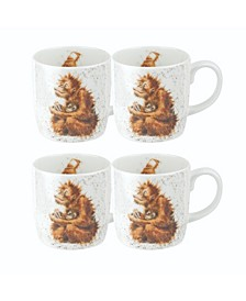 Wrendale Orangutangle Mug Set/4