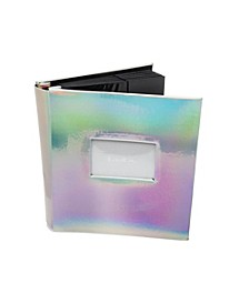 Silver Holographic Photo Album with Window