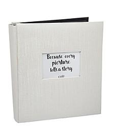 Ivory Text Photo Album with Window