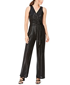 Twist-Front Wide-Leg Jumpsuit