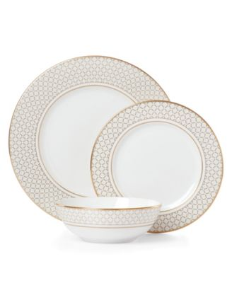 Venetian Lace Gold 3 Piece Place Setting