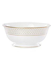 Venetian Lace Gold Serve Bowl