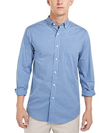 Men's Micro-Check Shirt, Created For Macy's