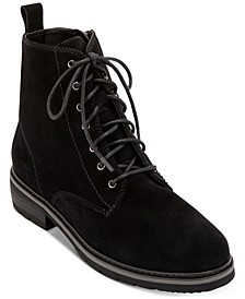 Voilet Lace-Up Waterproof Booties, Created for Macy's