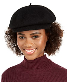 Wool Knit Newsboy Hat