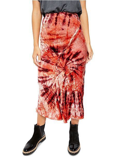 Free People Bali Serious Swagger Tie Dye Maxi Skirt