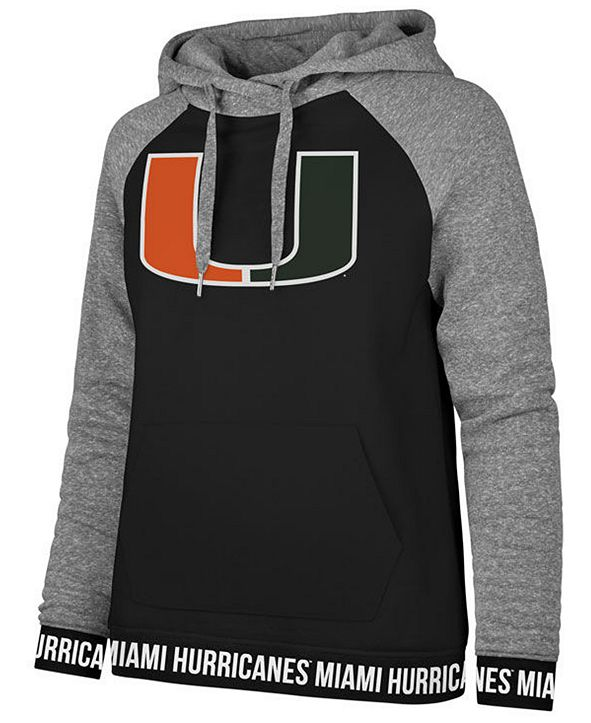 '47 Brand Women's Miami Hurricanes Encore Revolve Hooded Sweatshirt