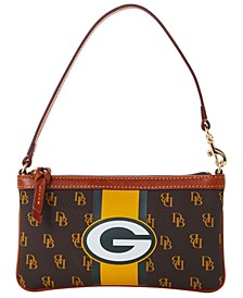 Green Bay Packers Stadium Signature Large Slim Wristlet