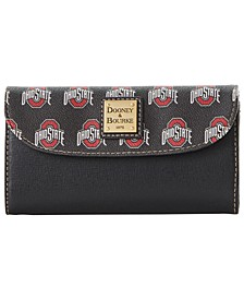 Ohio State Buckeyes Saffiano Continental Clutch
