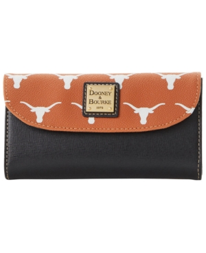 Texas Longhorns Saffiano Continental Clutch