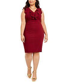 Trendy Plus Size Open-Back Ruffled Dress