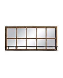 Window Pane Mirror w/Shelf
