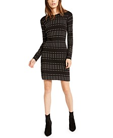 Studded Long-Sleeve Bodycon Dress, Created For Macy's