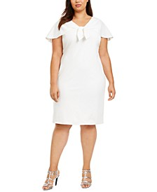 Plus Size Tie-Bow Sheath Dress