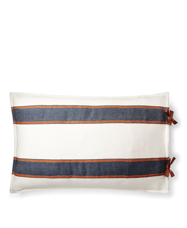 "Lauren Ralph Lauren Tessa Striped 16"" X 24"" Luxury Decorative Throw Pillow"