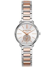 Women's Petite Portia Two-Tone Stainless Steel Bracelet Watch 28mm