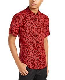 Men's Abstract Dot Print Shirt