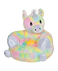 Children's Plush Rainbow Unicorn Character Chair