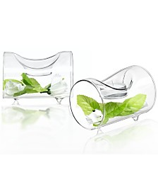 JoyJolt Ambient Single Tea Light Candle Holders Set of 2
