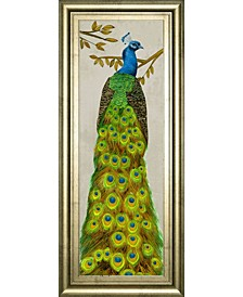 """Vintage-Inspired Peacock I by Melissa Wang Framed Print Wall Art, 18"""" x 42"""""""