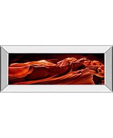 "Sun Shining Through Canyon VIIl by David Drost Mirror Framed Print Wall Art, 18"" x 42"""