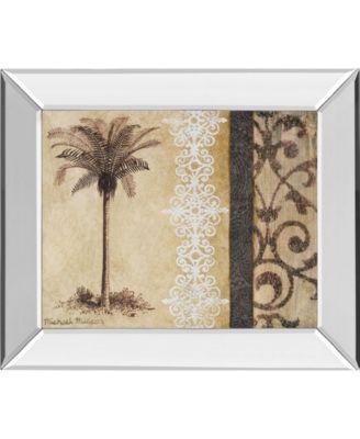 "Decorative Palm II by Michael Marcon Mirror Framed Print Wall Art, 22"" x 26"""