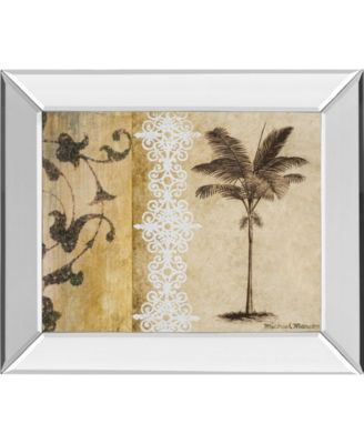 "Decorative Palm I by Michael Marcon Mirror Framed Print Wall Art, 22"" x 26"""