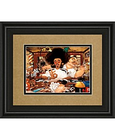 "The Barber's Shop by Adam Perez Framed Print Wall Art, 34"" x 40"""