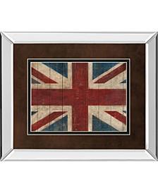 "Union Jack by Avery Tillman Mirror Framed Print Wall Art, 34"" x 40"""