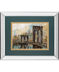 "Manhattan Memories by Ruane Manning Mirror Framed Print Wall Art, 34"" x 40"""