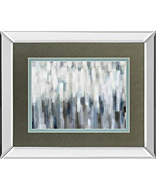 "Silver Rain by Karen Lorena Parker Mirror Framed Print Wall Art, 34"" x 40"""