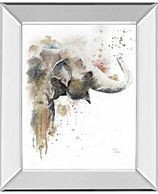 "Water Elephant by Patricia Pinto Mirror Framed Print Wall Art, 22"" x 26"""