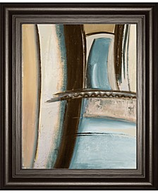 "Time Flies on Blue II by Patricia Pinto Framed Print Wall Art, 22"" x 26"""