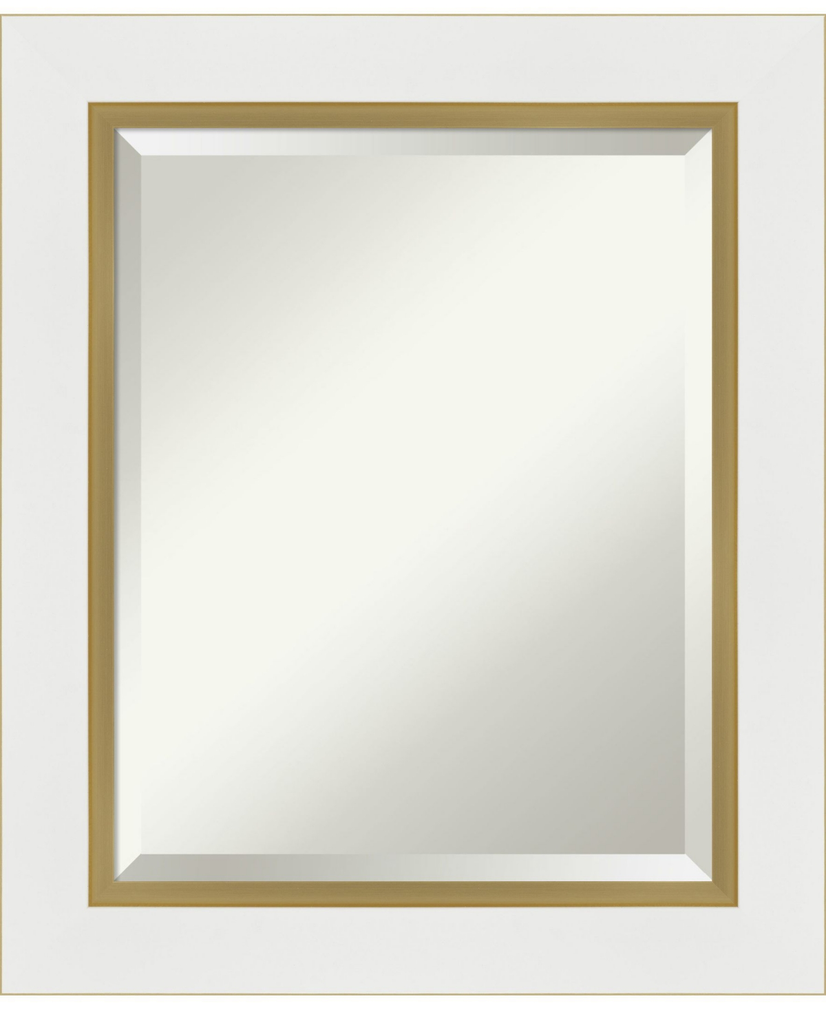Amanti Art Eva Gold-tone Framed Bathroom Vanity Wall Mirror, 21.25