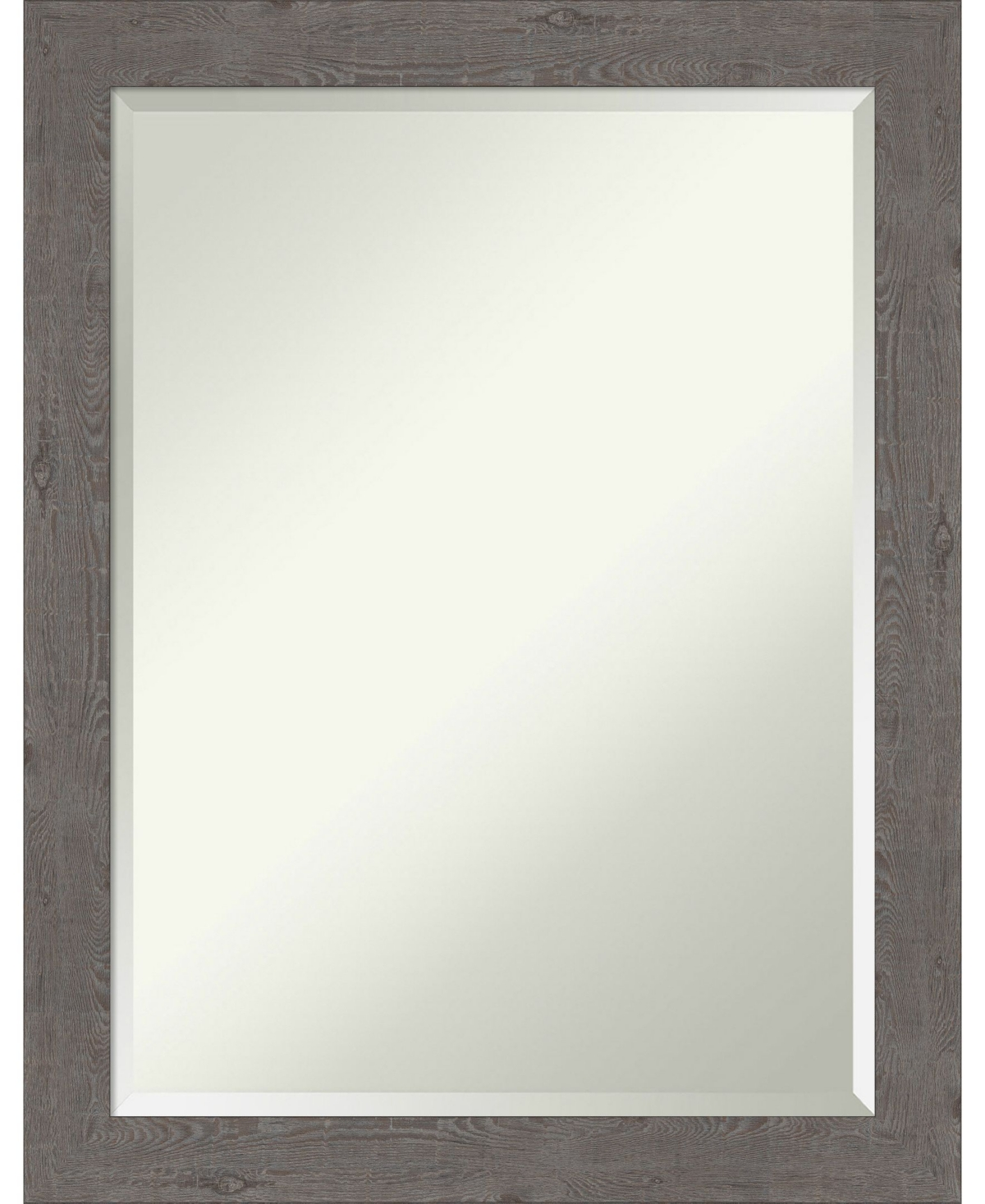 Amanti Art Rustic Plank Framed Bathroom Vanity Wall Mirror, 21.25