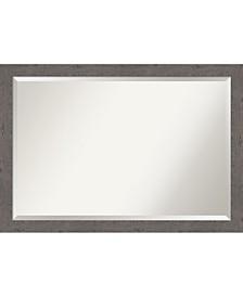 "Rustic Plank Framed Bathroom Vanity Wall Mirror, 39.25"" x 27.25"""