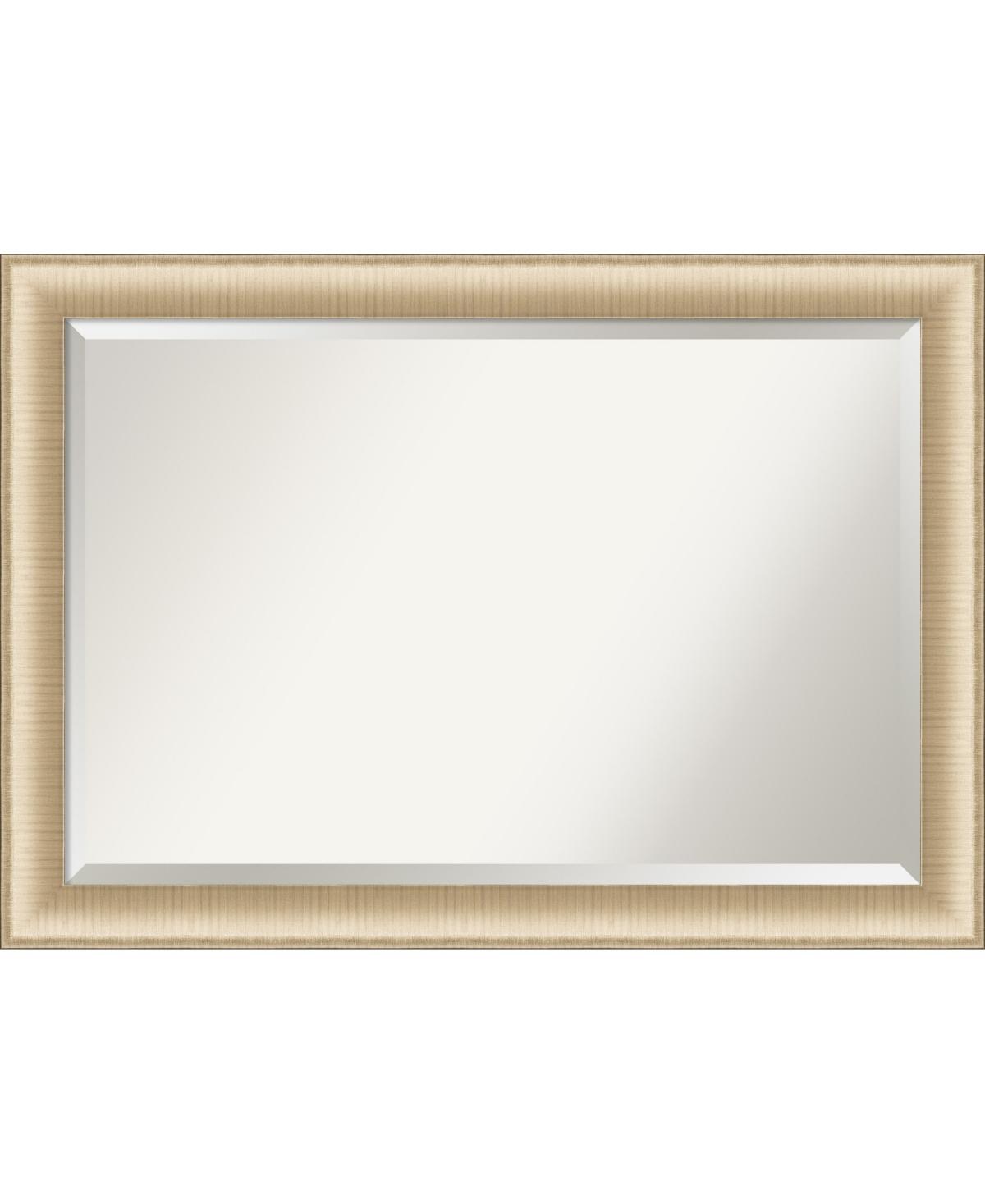 Amanti Art Elegant Brushed Honey Framed Bathroom Vanity Wall Mirror, 40.75
