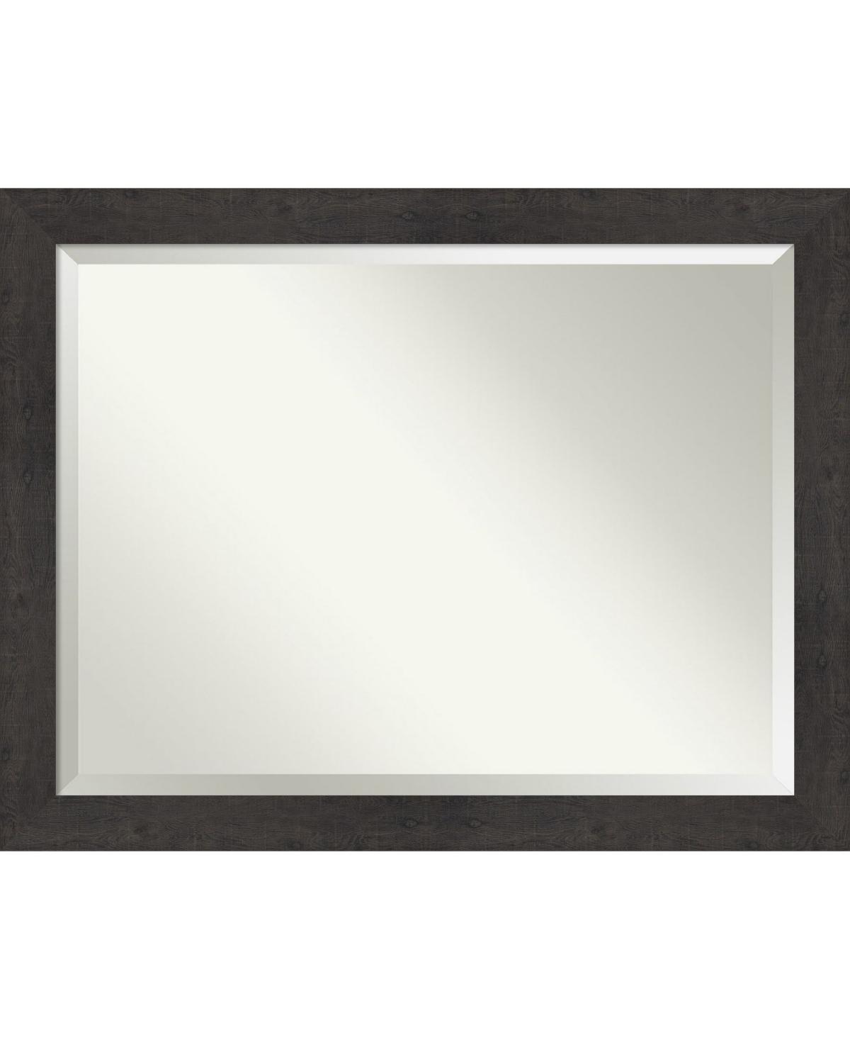 Amanti Art Rustic Plank Framed Bathroom Vanity Wall Mirror, 45.38