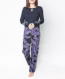 Floral Print Ultra Soft Long-Sleeve Pajama Set