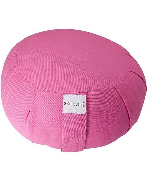 Sol Living Cotton Yoga Zafu Meditation Cushion