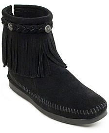 Hi Top Back Zip Narrow Boot