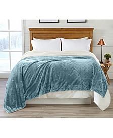 Home Fashions Designs Berber Velvet Plush Luxury Full / Queen Bed Blanket