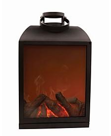 Flameless Fireplace LED Lantern - Non Heated