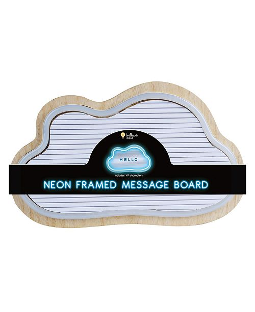 Brilliant Ideas Cloud Shaped Neon LED Message Board