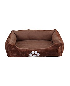 Orthopedic Rectangle Bolster Pet Bed, Dog Bed, Super Soft Plush