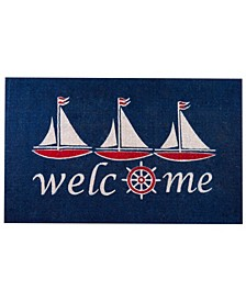 "Non-Slip Extra Thick Coco Nautical Sailboat Welcome Doormat, 30"" x 48"""