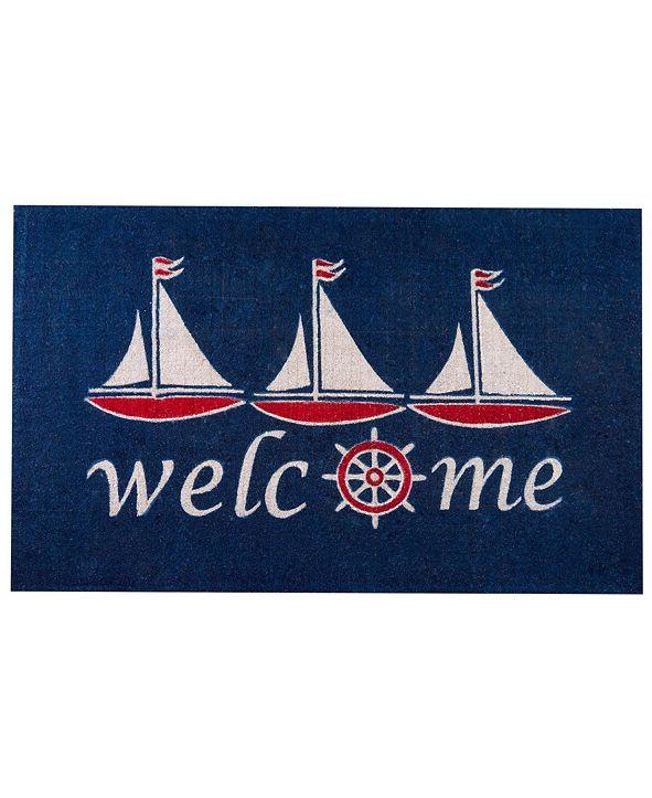 "Envelor Non-Slip Extra Thick Coco Nautical Sailboat Welcome Doormat, 30"" x 48"""